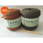 "T-shirt Yarn ""Venla"" Inspiration Kit ""Woods"""
