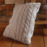 Free Pattern - Knitted Pillow Cover with Cables